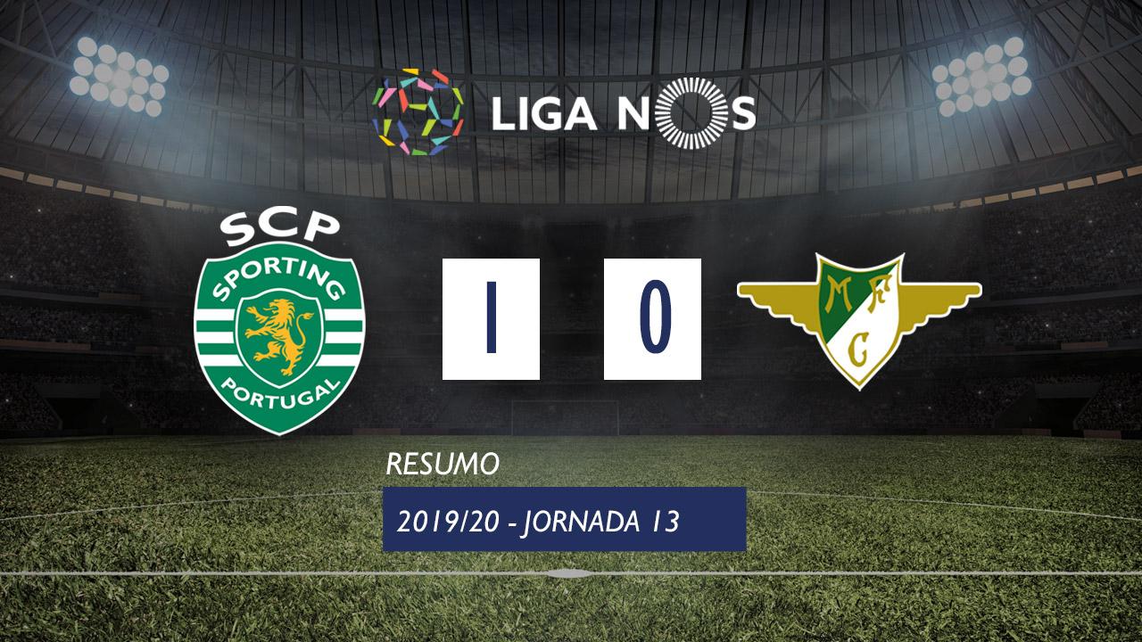 I Liga (13ªJ): Resumo Sporting CP 1-0 Moreirense FC