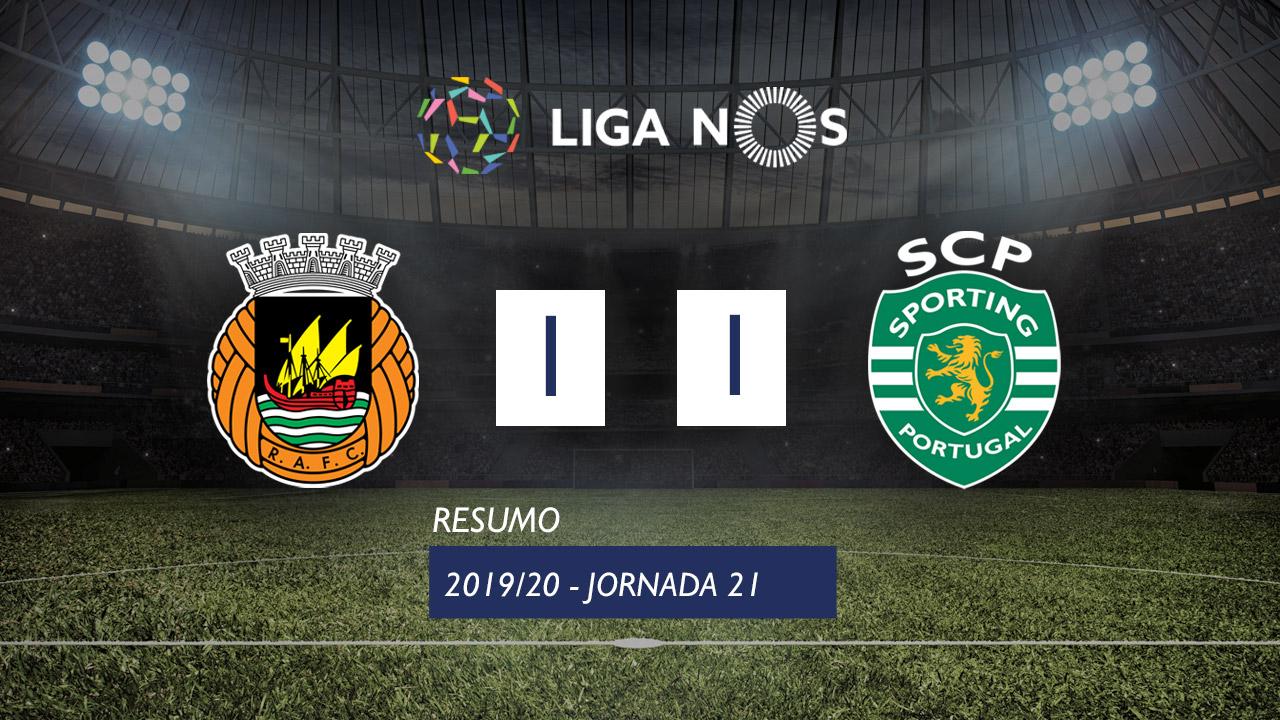 Liga NOS (21ªJ): Resumo Rio Ave FC 1-1 Sporting CP
