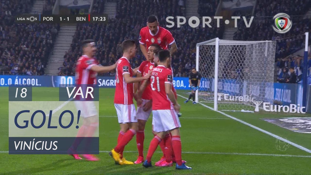 GOLO! SL Benfica, Vinícius aos 18', FC Porto 1-1 SL Benfica