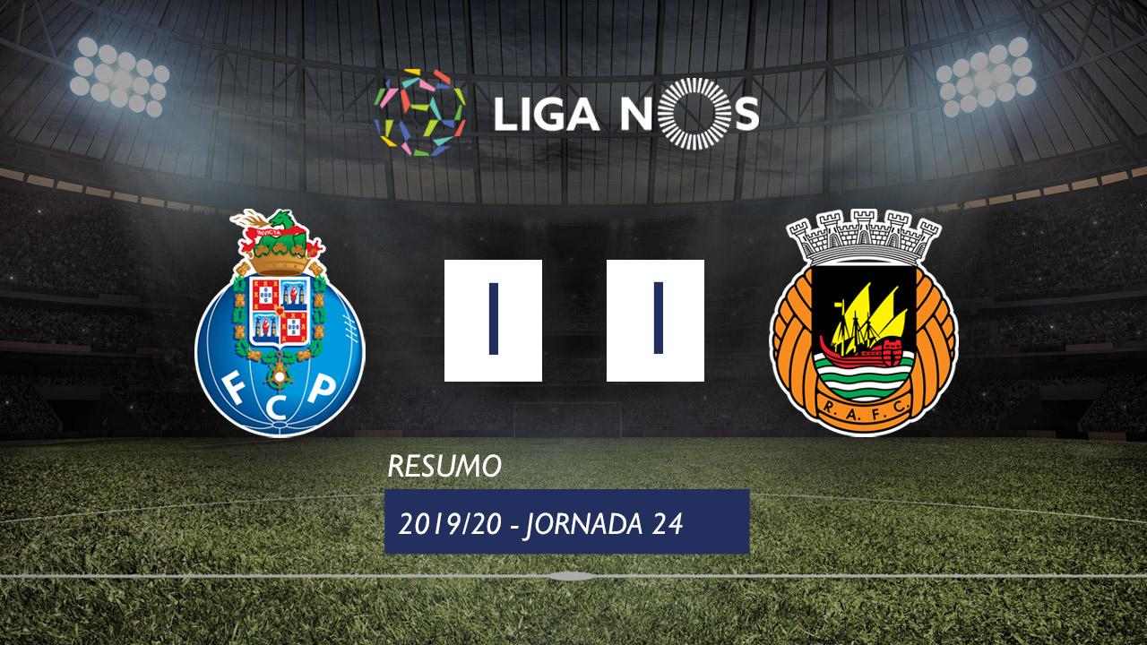 Liga NOS (24ªJ): Resumo FC Porto 1-1 Rio Ave FC