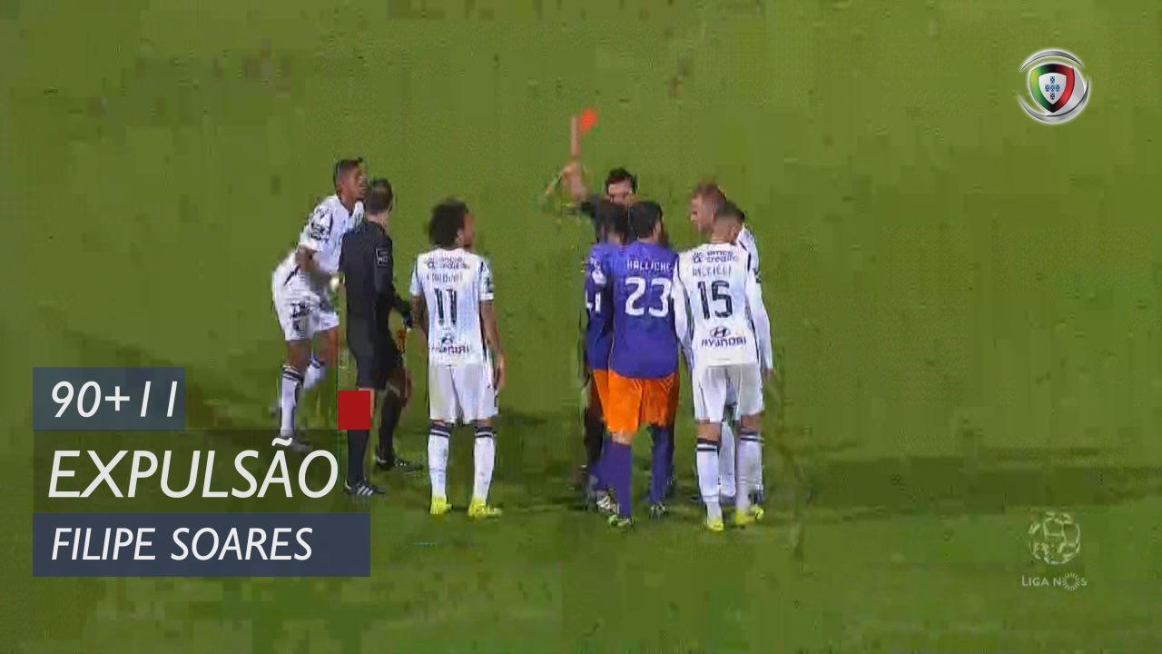 Moreirense FC, Expulsão, Filipe Soares aos 90'+11'