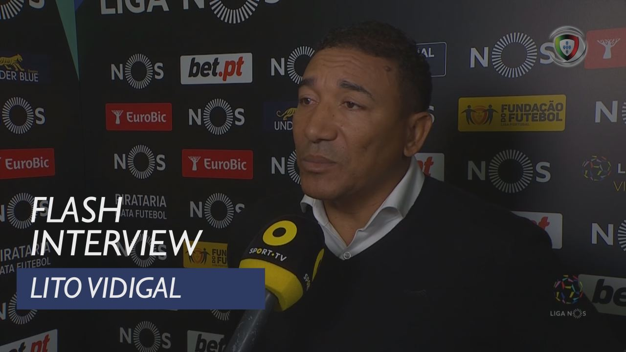 Liga (13ª): Flash Interview Lito Vidigal