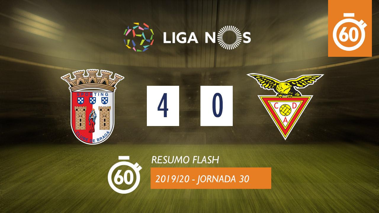 I Liga (30ªJ): Resumo Flash SC Braga 4-0 CD Aves