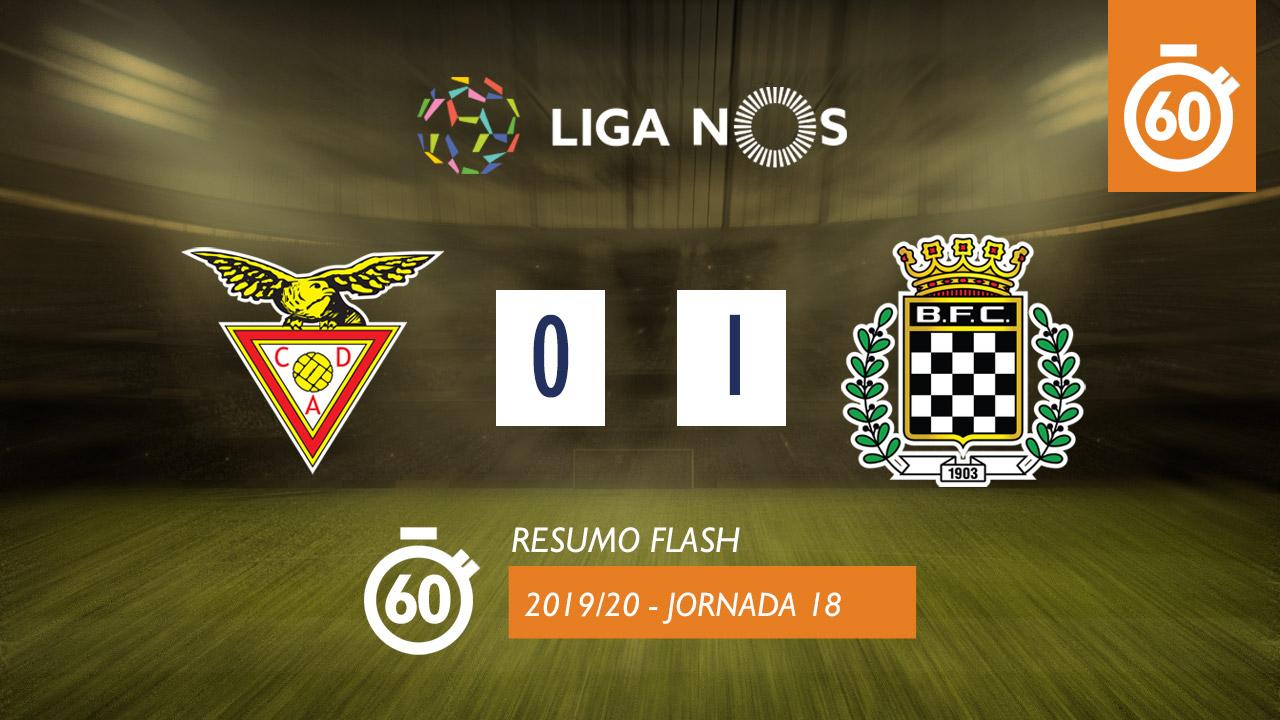 I Liga (18ªJ): Resumo Flash CD Aves 0-1 Boavista FC