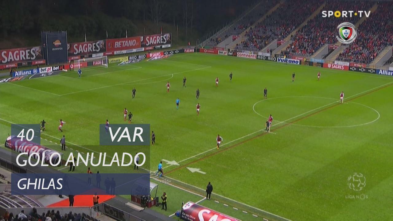Vitória FC, Golo Anulado, Ghilas aos 40'