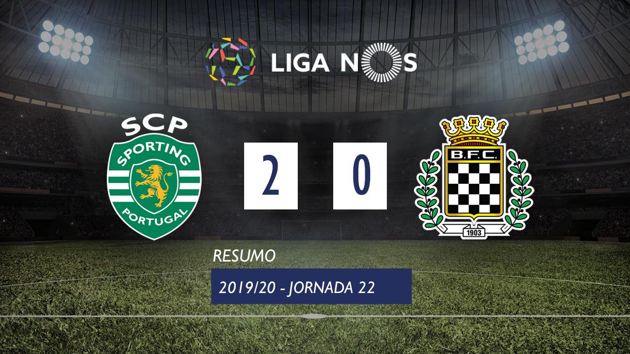Liga NOS (22ªJ): Resumo Sporting CP 2-0 Boavista FC