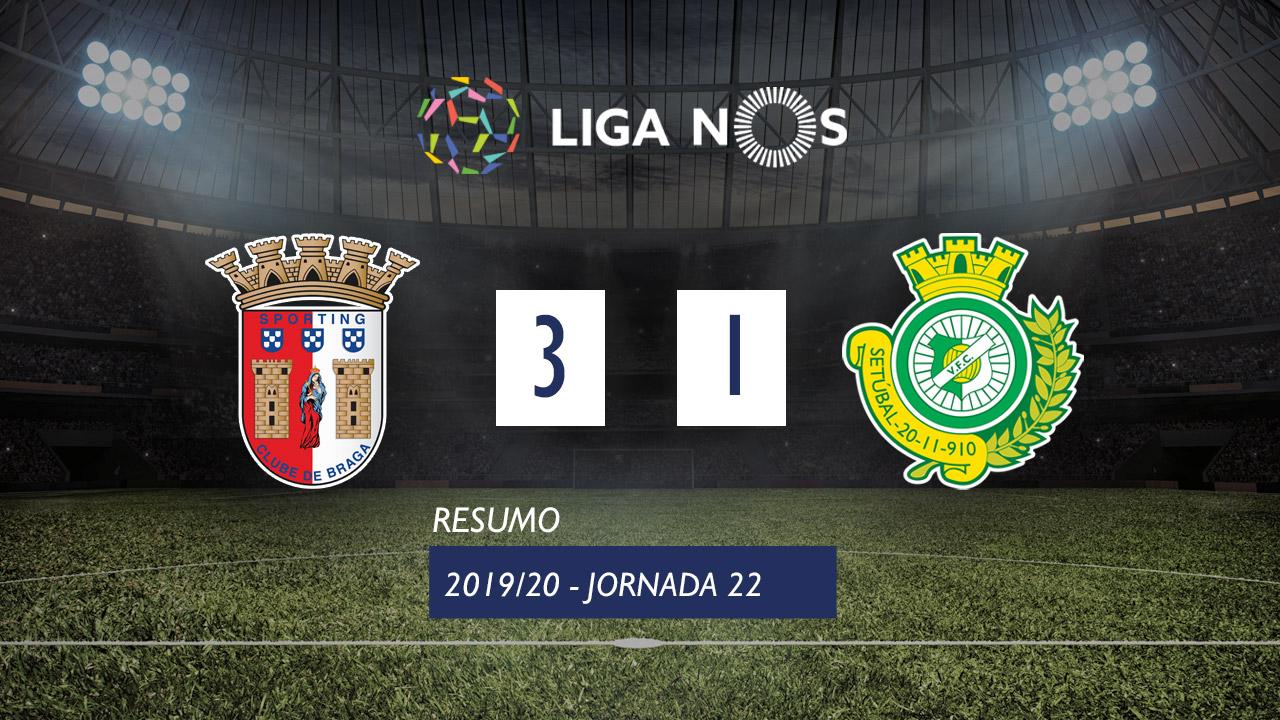 I Liga (22ªJ): Resumo SC Braga 3-1 Vitória FC