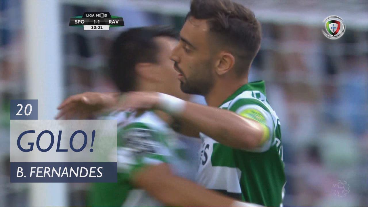 GOLO! Sporting CP, Bruno Fernandes aos 20', Sporting CP 1-1 Rio Ave FC