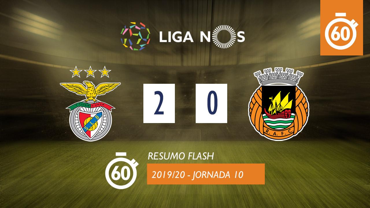 I Liga (10ªJ): Resumo Flash SL Benfica 2-0 Rio Ave FC