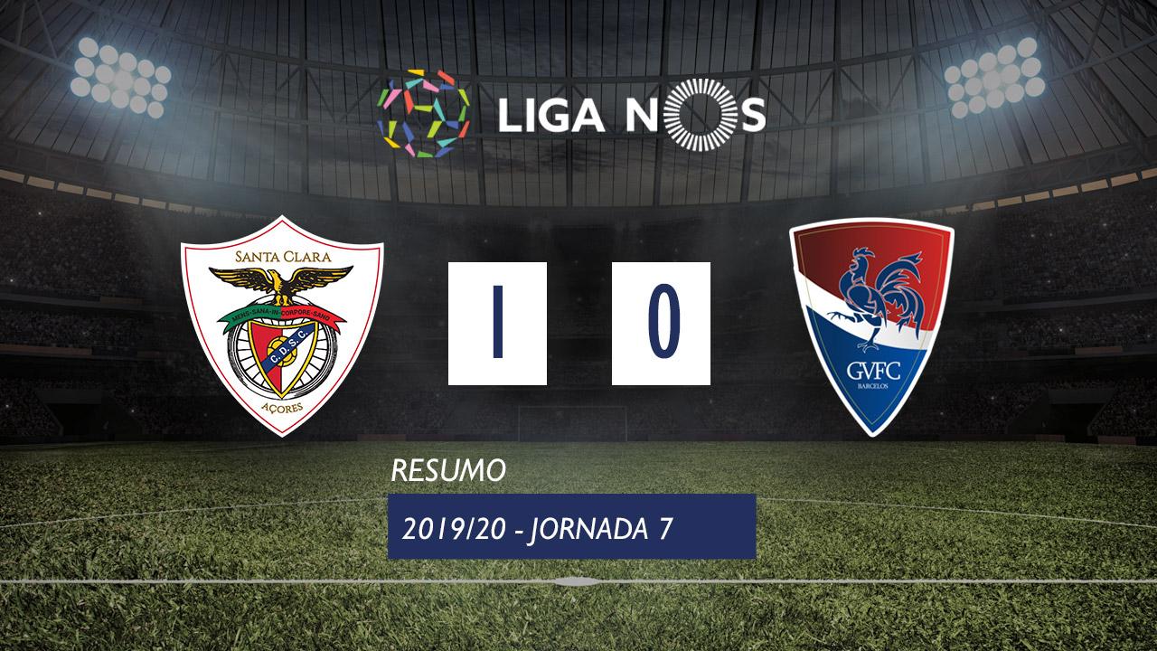 Liga NOS (7ªJ): Resumo Santa Clara 1-0 Gil Vicente FC