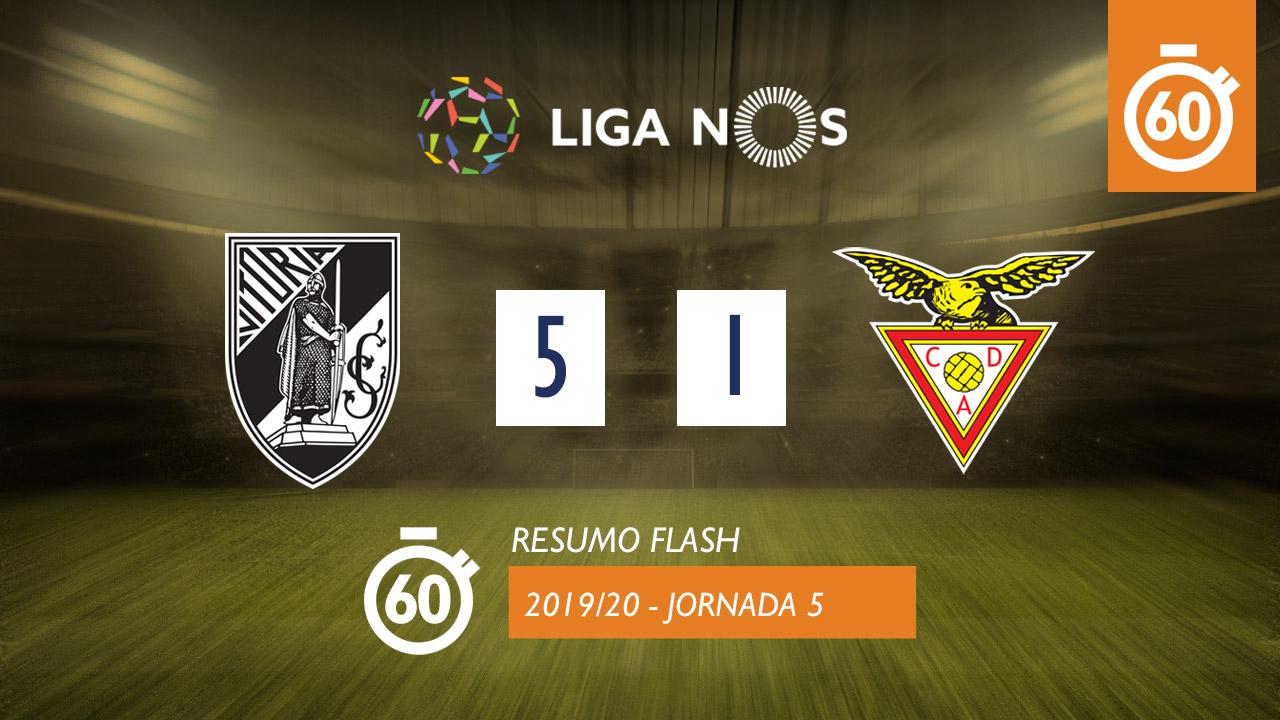I Liga (5ªJ): Resumo Flash Vitória SC 5-1 CD Aves