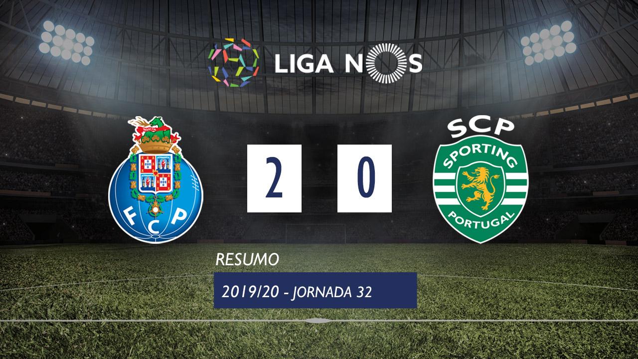 Liga NOS (32ªJ): Resumo FC Porto 2-0 Sporting CP