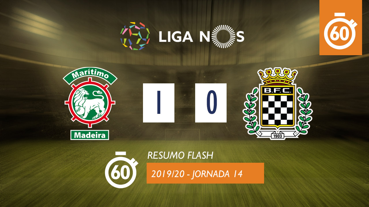 I Liga (14ªJ): Resumo Flash Marítimo M. 1-0 Boavista FC