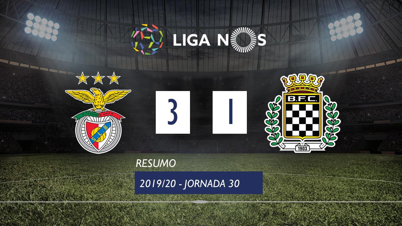 I Liga (30ªJ): Resumo SL Benfica 3-1 Boavista FC