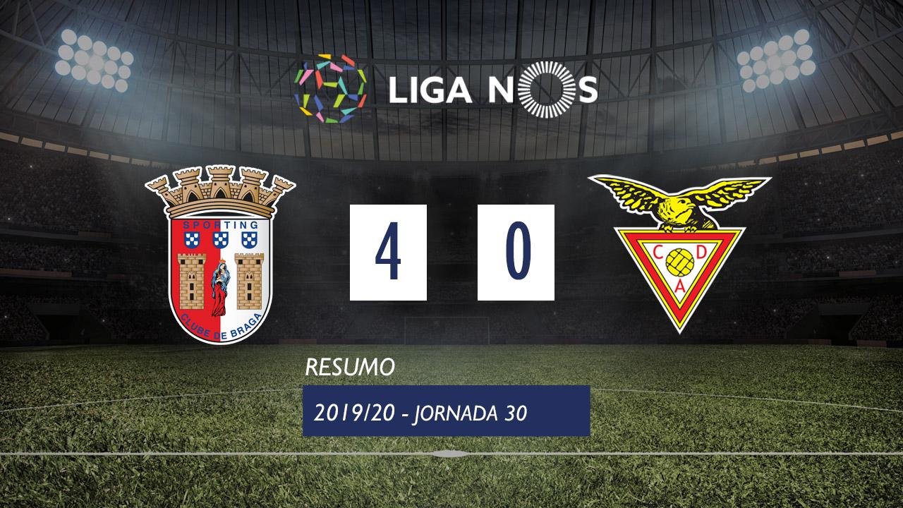 I Liga (30ªJ): Resumo SC Braga 4-0 CD Aves
