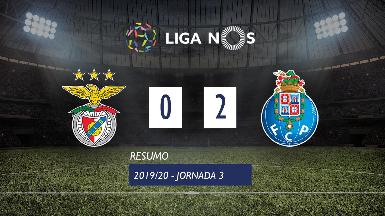 I Liga (3ªJ): Resumo SL Benfica 0-2 FC Porto