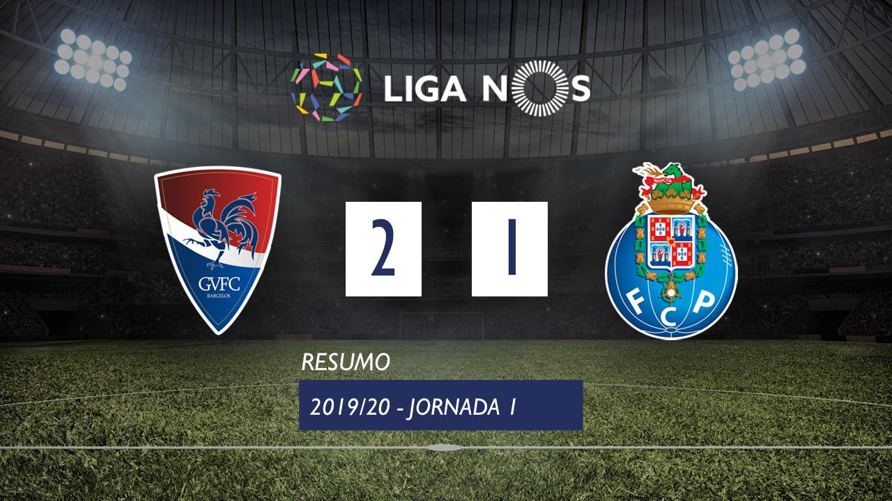 Liga NOS (1ªJ): Resumo Gil Vicente FC 2-1 FC Porto