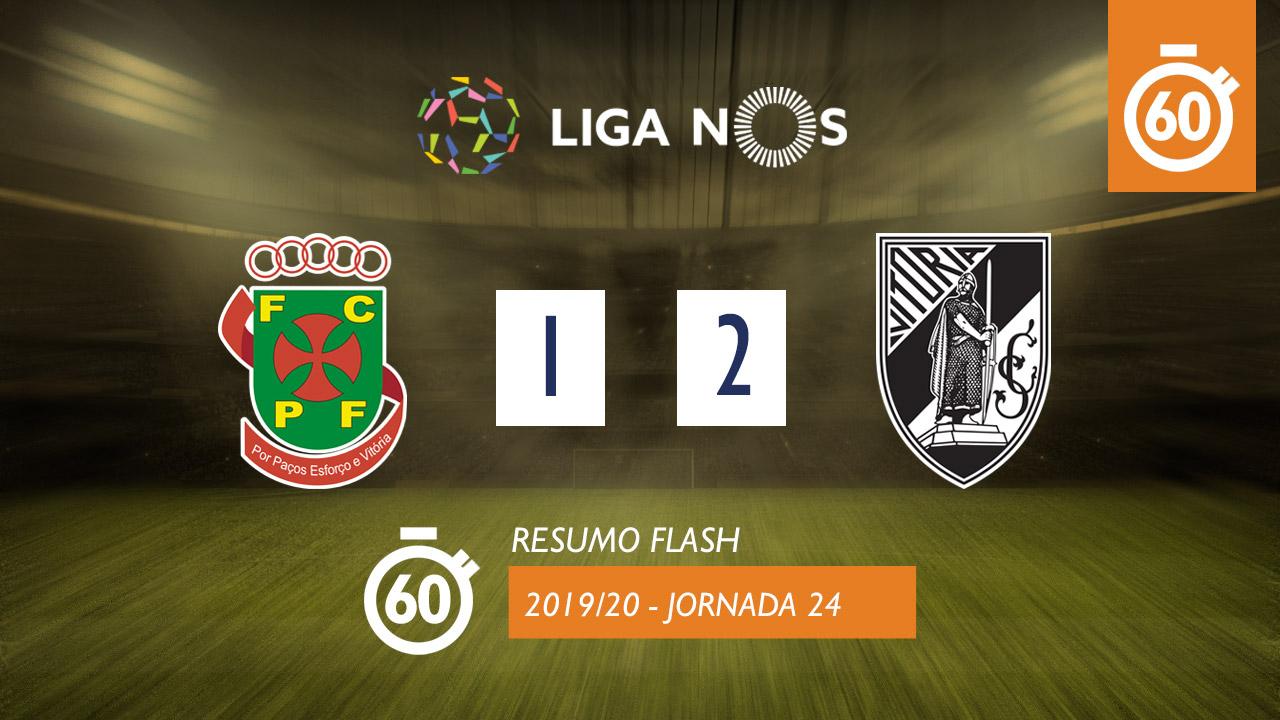 I Liga (24ªJ): Resumo Flash FC P.Ferreira 1-2 Vitória SC