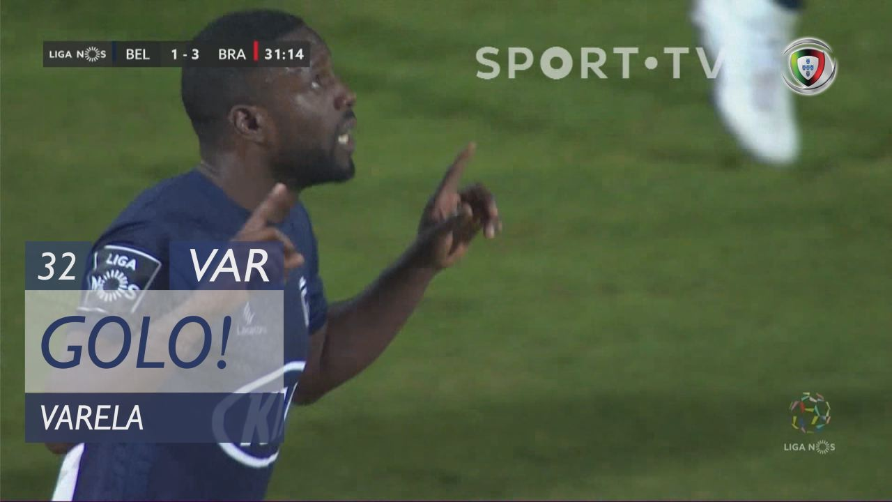 GOLO! Belenenses, Varela aos 32', Belenenses 1-3 SC Braga
