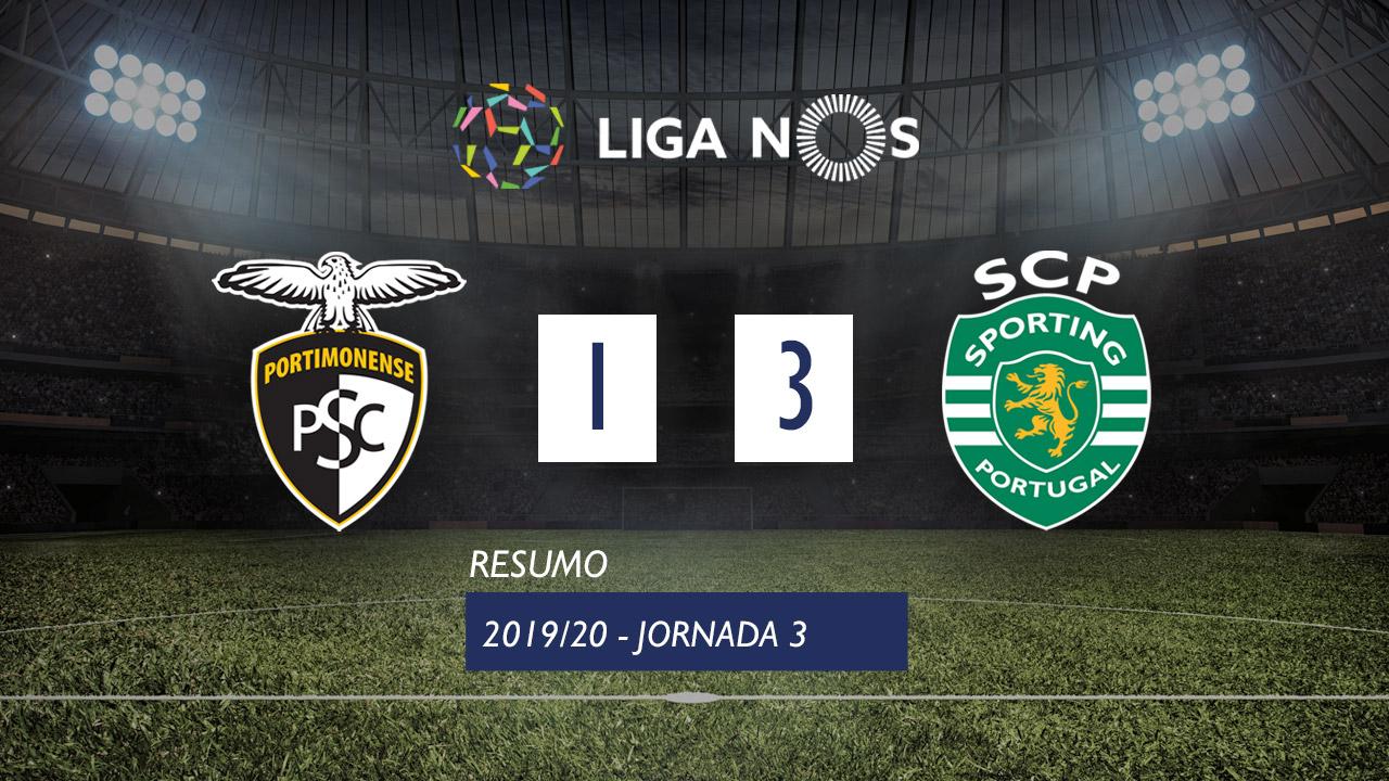 Liga NOS (3ªJ): Resumo Portimonense 1-3 Sporting CP