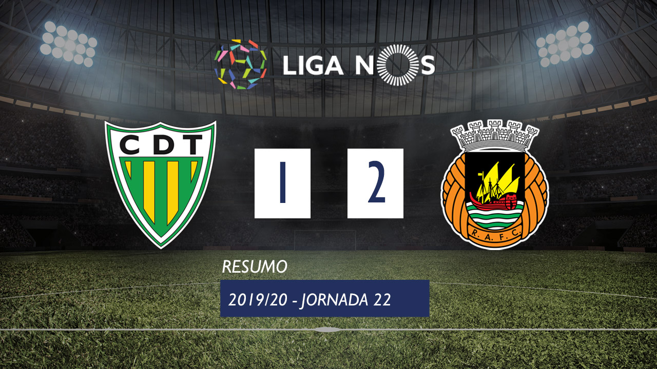 Liga NOS (22ªJ): Resumo CD Tondela 1-2 Rio Ave FC