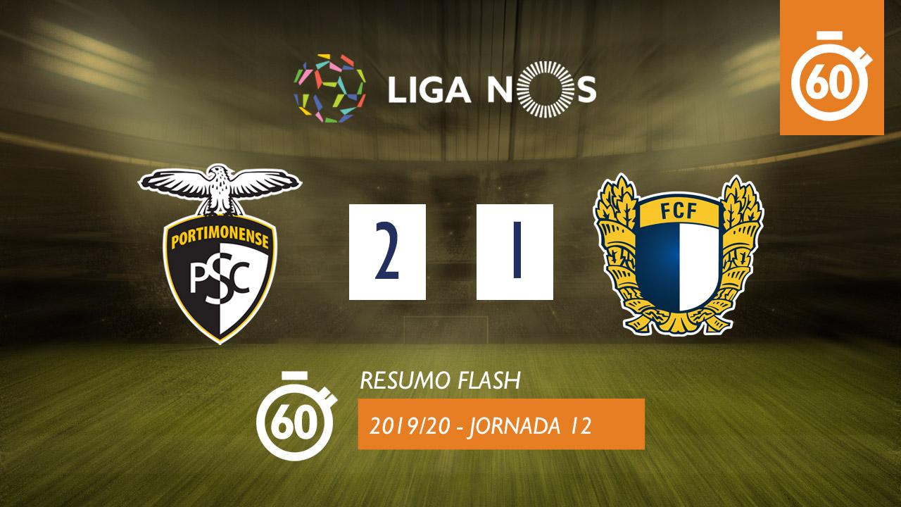 I Liga (12ªJ): Resumo Flash Portimonense 2-1 FC Famalicão