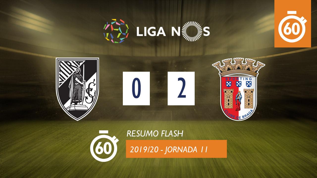 I Liga (11ªJ): Resumo Flash Vitória SC 0-2 SC Braga
