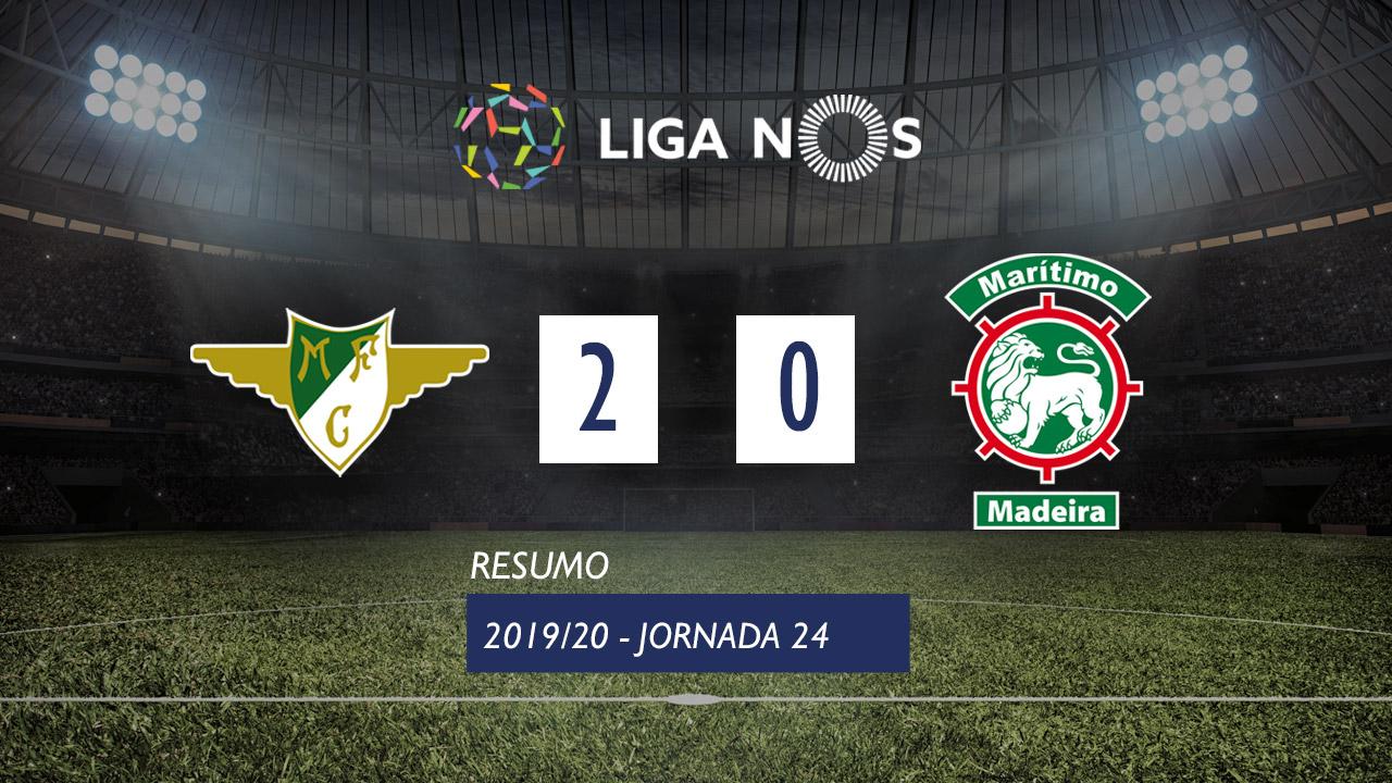 Liga NOS (24ªJ): Resumo Moreirense FC 2-0 Marítimo M.