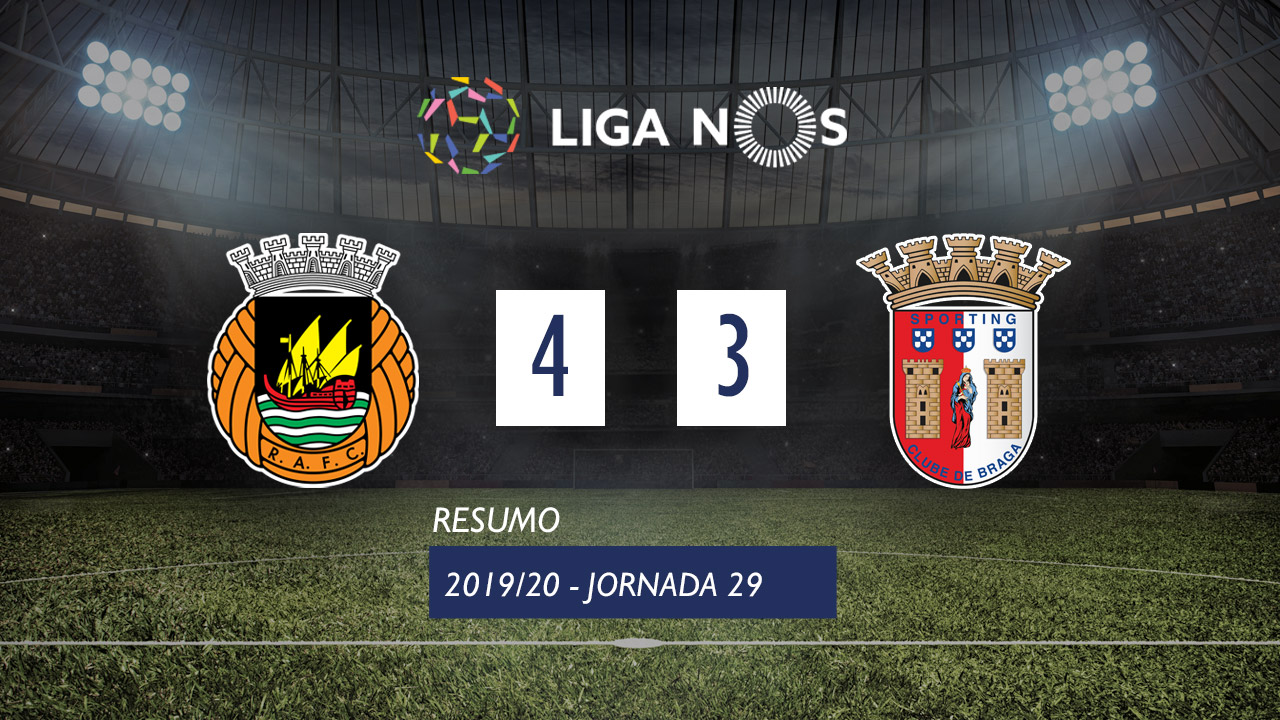 Liga NOS (29ªJ): Resumo Rio Ave FC 4-3 SC Braga