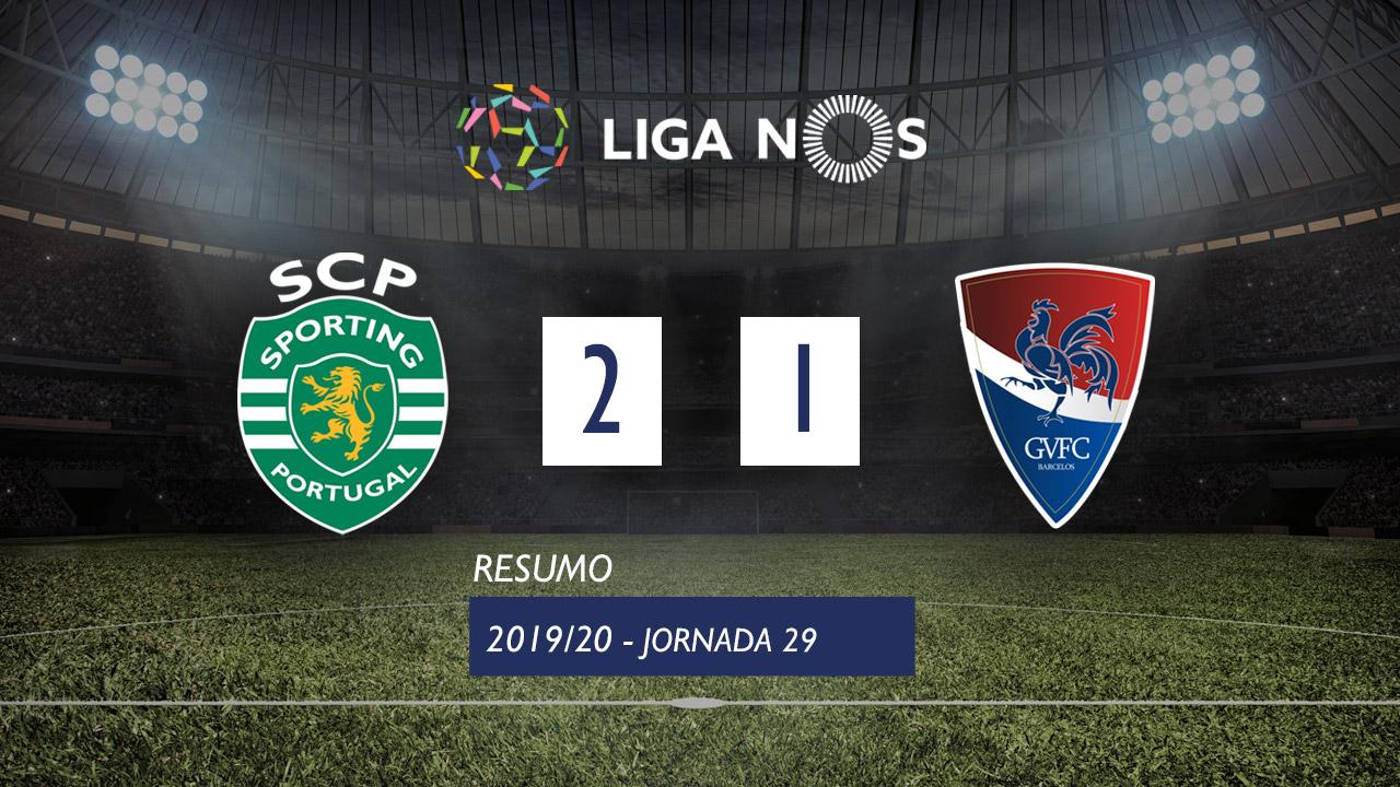 Liga NOS (29ªJ): Resumo Sporting CP 2-1 Gil Vicente FC