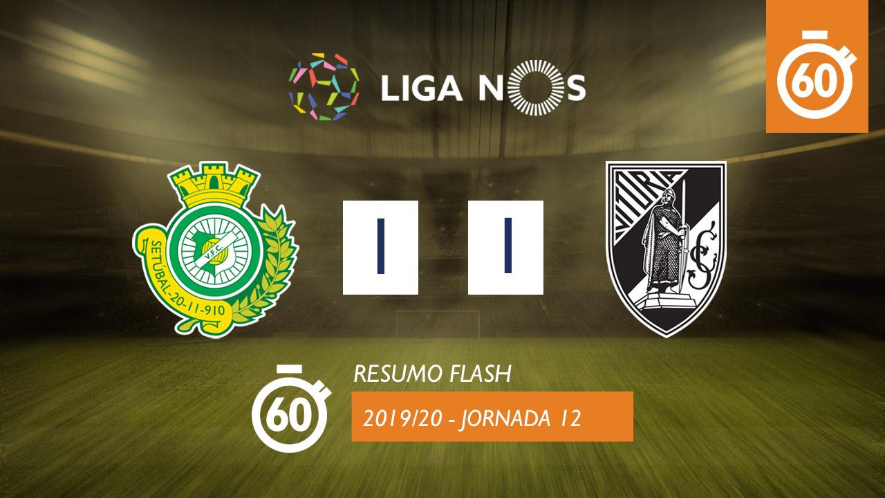 I Liga (12ªJ): Resumo Flash Vitória FC 1-1 Vitória SC