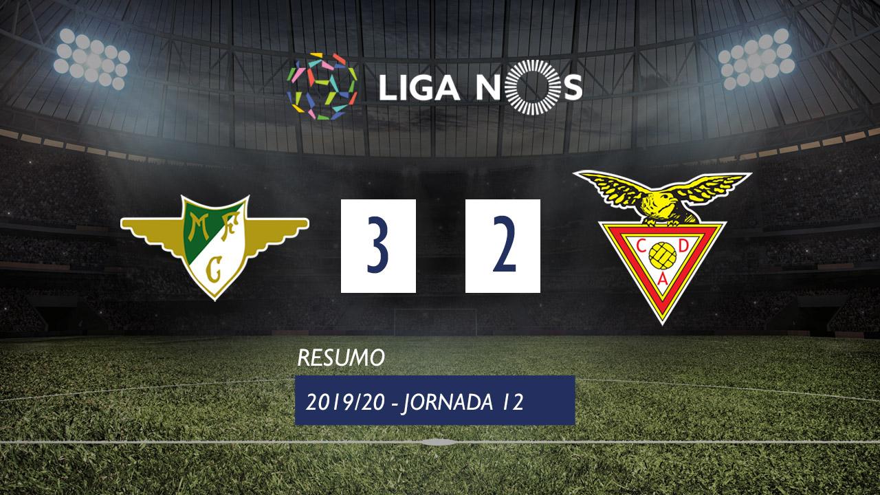 Liga NOS (12ªJ): Resumo Moreirense FC 3-2 CD Aves