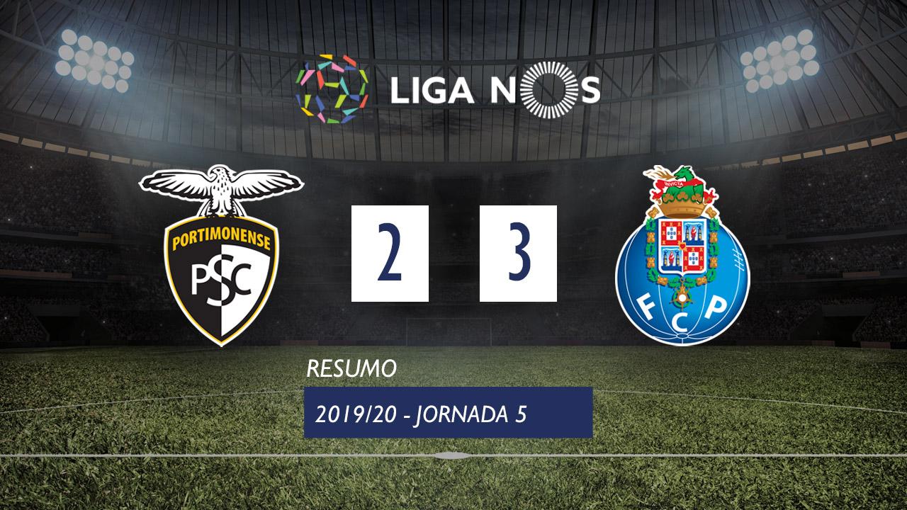 I Liga (5ªJ): Resumo Portimonense 2-3 FC Porto