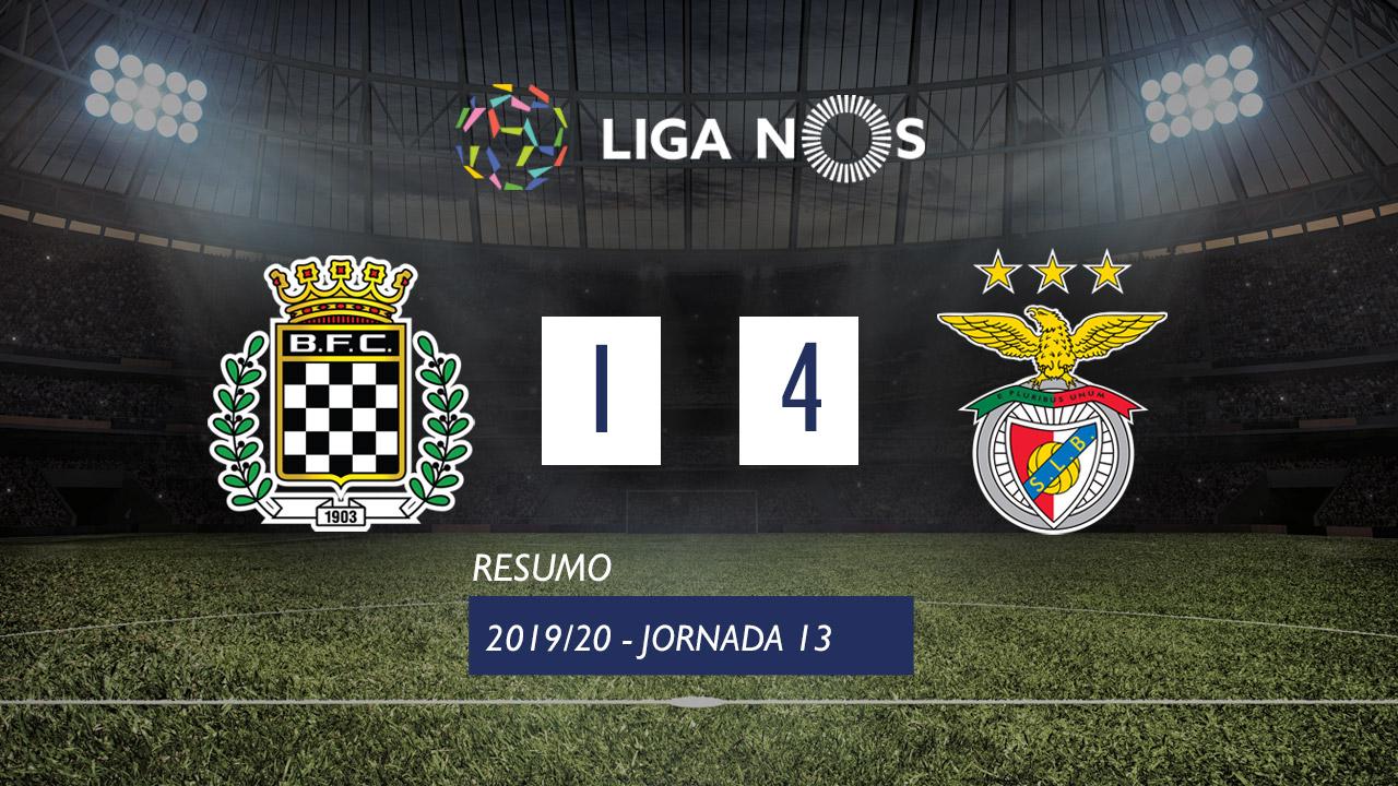 I Liga (13ªJ): Resumo Boavista FC 1-4 SL Benfica