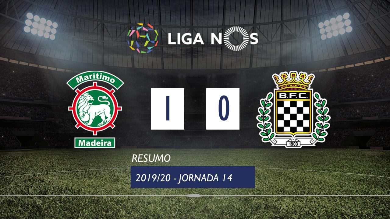 I Liga (14ªJ): Resumo Marítimo M. 1-0 Boavista FC