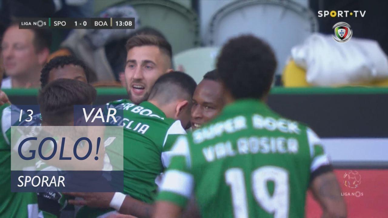 GOLO! Sporting CP, Sporar aos 13', Sporting CP 1-0...