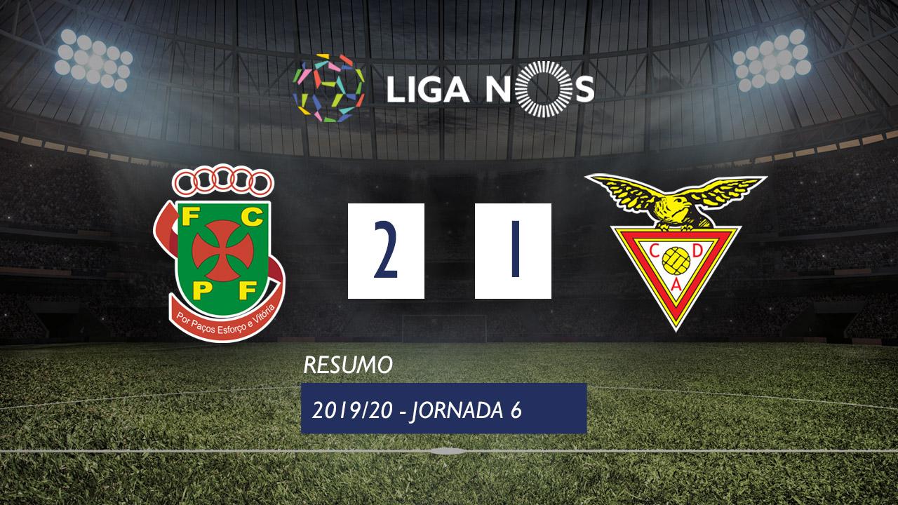 I Liga (6ªJ): Resumo FC P.Ferreira 2-1 CD Aves