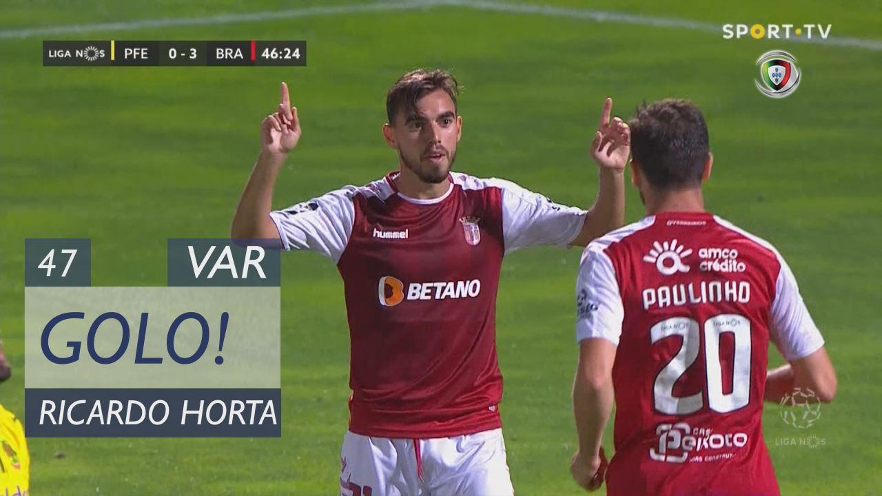 GOLO! SC Braga, Ricardo Horta aos 47', FC P.Ferrei...