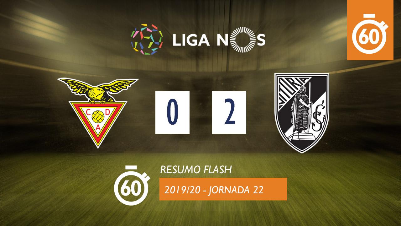 I Liga (22ªJ): Resumo Flash CD Aves 0-2 Vitória SC