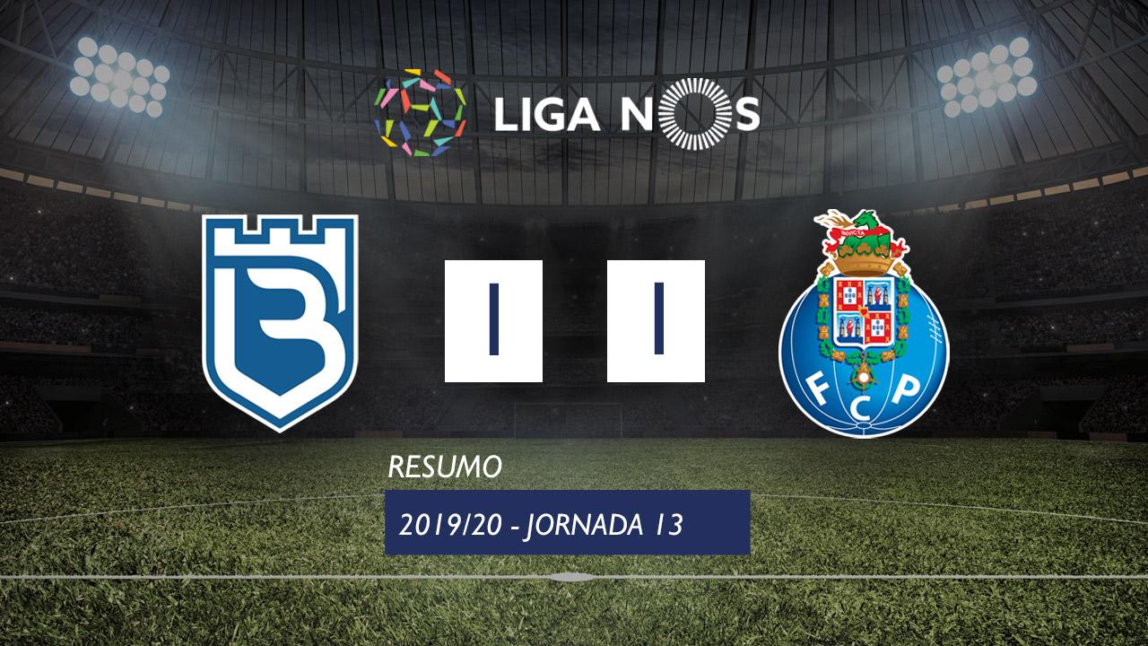 Liga NOS (13ªJ): Resumo Belenenses SAD 1-1 FC Porto