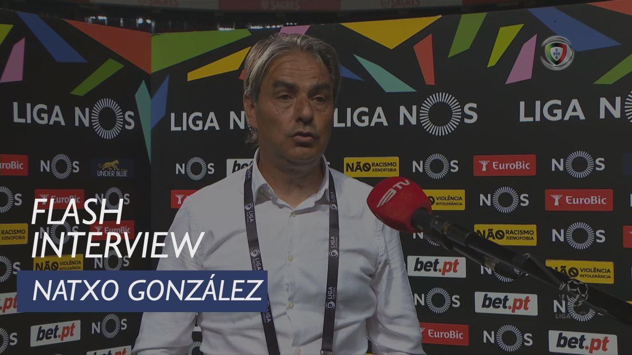 """Natxo Gonzalez: """"Estou muito orgulhoso dos meus jogadores"""""""