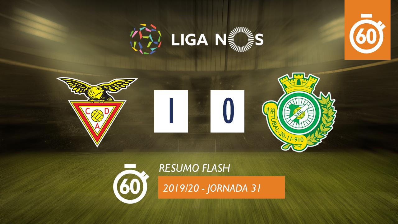 I Liga (31ªJ): Resumo Flash CD Aves 1-0 Vitória FC