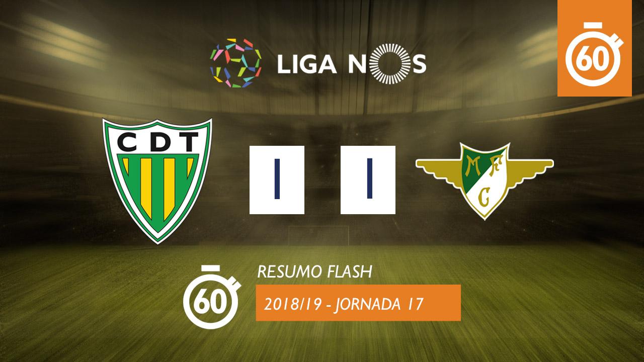 I Liga (17ªJ): Resumo Flash CD Tondela 1-1 Moreirense FC