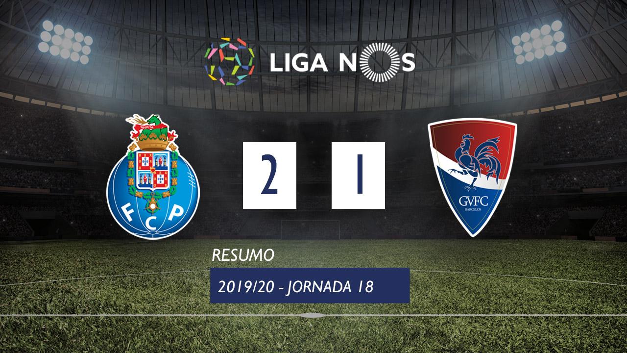 Liga NOS (18ªJ): Resumo FC Porto 2-1 Gil Vicente FC