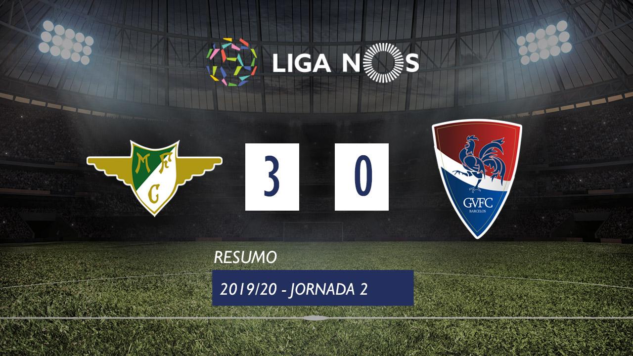 Liga NOS (2ªJ): Resumo Moreirense FC 3-0 Gil Vicente FC