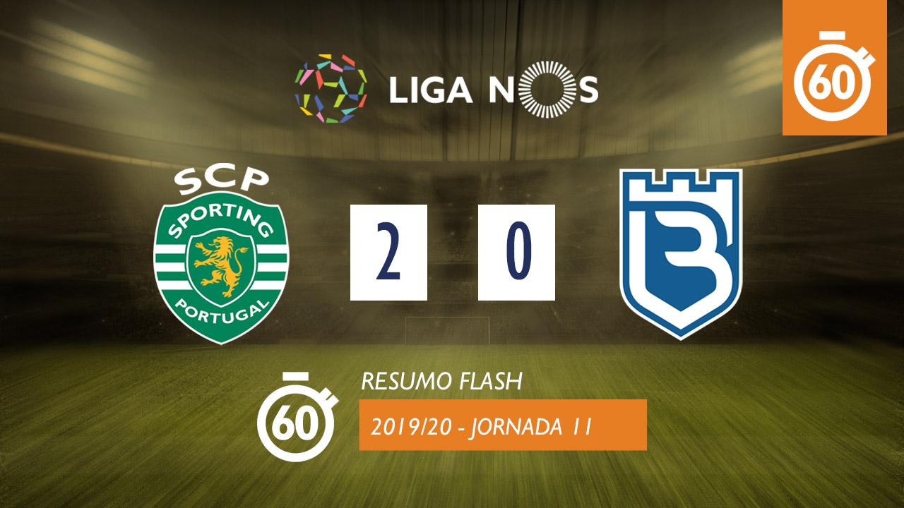I Liga (11ªJ): Resumo Flash Sporting CP 2-0 Belenenses