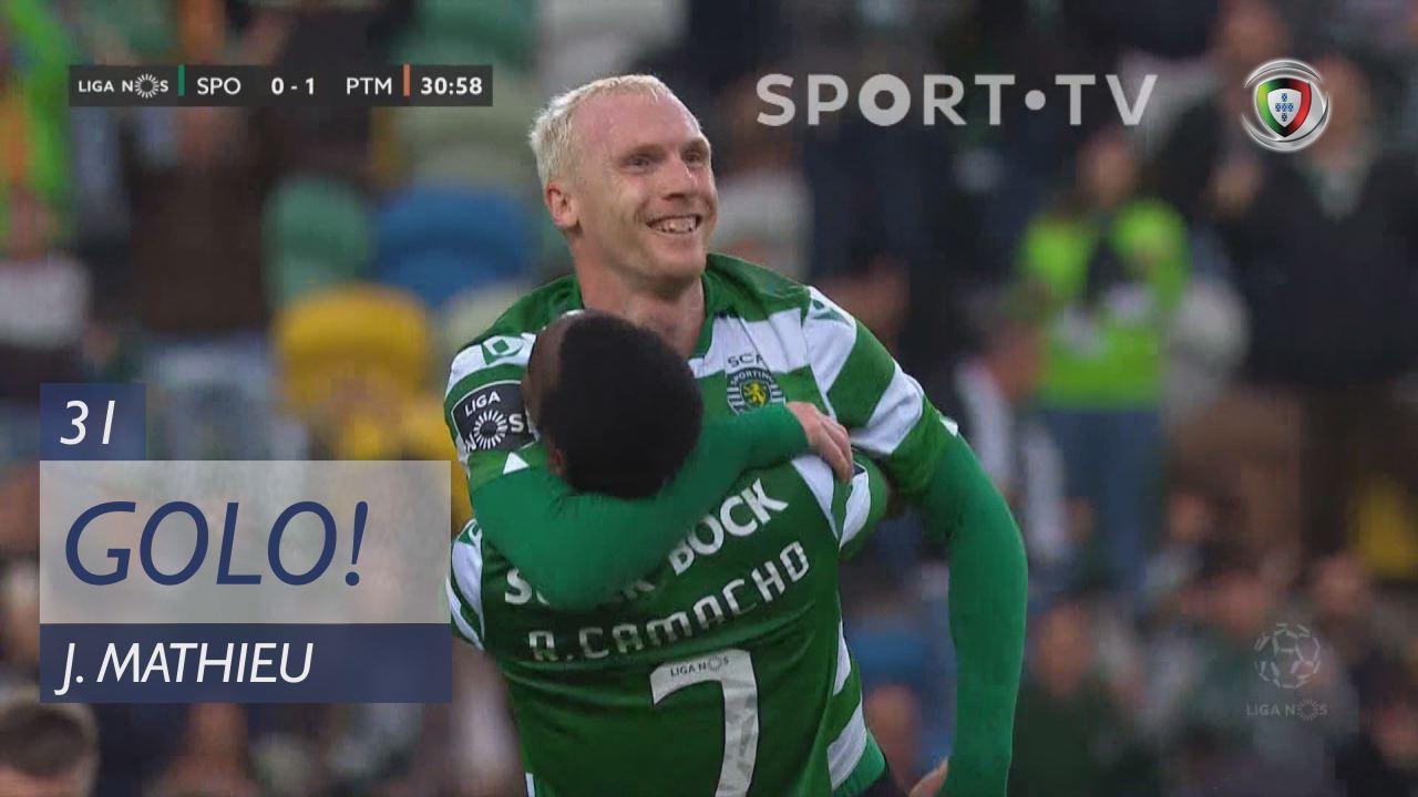 GOLO! Sporting CP, J. Mathieu aos 31', Sporting CP 1-1 Portimonense