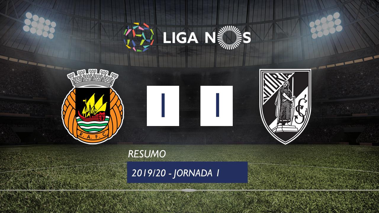 Liga NOS (1ªJ): Resumo Rio Ave FC 1-1 Vitória SC