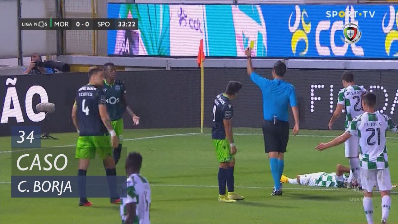 Sporting CP, Caso, C. Borja aos 34'