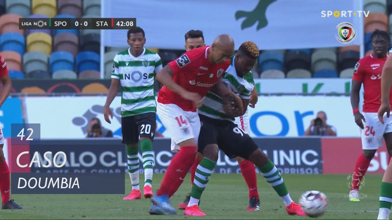 Sporting CP, Caso, Doumbia aos 42'